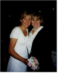 Jeanie and Diane at Wedding Nov. 2000